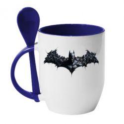 Кружка с керамической ложкой Batman Arkham Asylum - FatLine