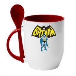 Кружка с керамической ложкой Batman Hero - FatLine