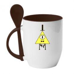 Кружка с керамической ложкой Билл Шифр - FatLine