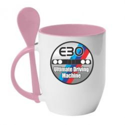 Кружка с керамической ложкой BMW E30 Ultimate Driving Machine - FatLine
