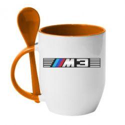 Кружка с керамической ложкой BMW M3 - FatLine