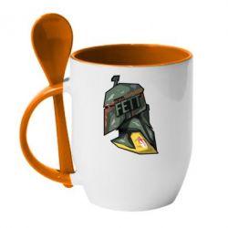 Кружка с керамической ложкой Boba Fett - FatLine