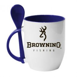 Кружка с керамической ложкой Browning - FatLine
