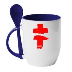 Кружка с керамической ложкой Brutto Logo - FatLine