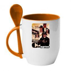 Кружка с керамической ложкой Compton's NWA - FatLine