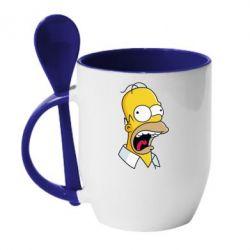Кружка с керамической ложкой Crazy Homer! - FatLine