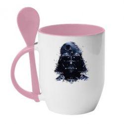 Кружка с керамической ложкой Darth Vader Space - FatLine