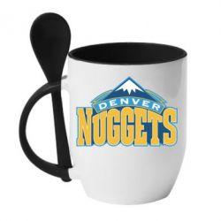 Кружка с керамической ложкой Denver Nuggets - FatLine