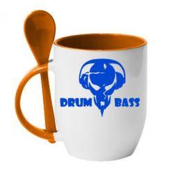 Кружка с керамической ложкой Drumm Bass - FatLine