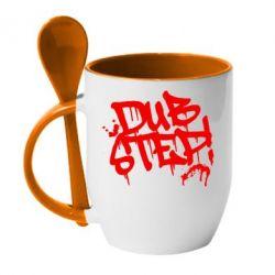Кружка с керамической ложкой Dub Step Граффити - FatLine
