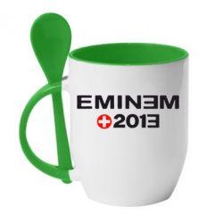 Кружка с керамической ложкой Eminem 2013 - FatLine