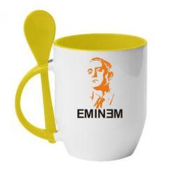 Кружка с керамической ложкой Eminem Logo - FatLine