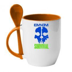 Кружка с керамической ложкой Eminem Survival - FatLine
