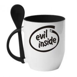 Кружка с керамической ложкой Evil Inside - FatLine