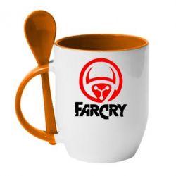 Кружка с керамической ложкой FarCry LOgo - FatLine