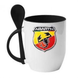 Кружка с керамической ложкой FIAT Abarth - FatLine
