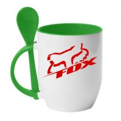 Кружка с керамической ложкой FOX Racing - FatLine