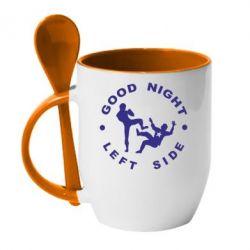 Кружка с керамической ложкой Good Night - FatLine