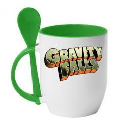Кружка с керамической ложкой Gravity Falls - FatLine
