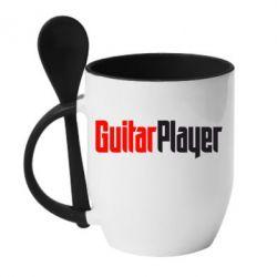 Кружка с керамической ложкой Guitar Player - FatLine