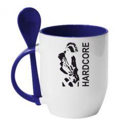 Кружка с керамической ложкой Harcore - FatLine