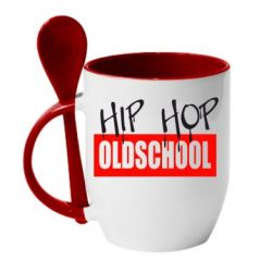 Кружка с керамической ложкой Hip Hop oldschool - FatLine