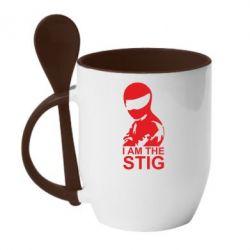Кружка с керамической ложкой I am the Stig - FatLine