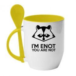Кружка с керамической ложкой I'm ENOT - FatLine