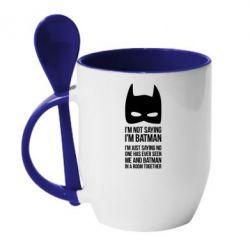 Кружка с керамической ложкой I'm not saying i'm batman - FatLine