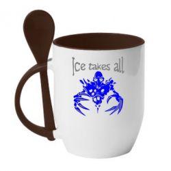 Кружка с керамической ложкой Ice takes all Dota - FatLine