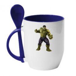 Кружка с керамической ложкой Incredible Hulk 2 - FatLine