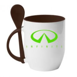 Кружка с керамической ложкой Infiniti - FatLine