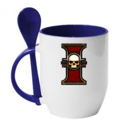Кружка с керамической ложкой инквизиция warhammer - FatLine