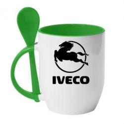Кружка с керамической ложкой IVECO - FatLine