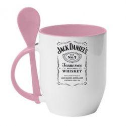 Кружка с керамической ложкой Jack Daniel's - FatLine