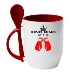 Кружка с керамической ложкой King Ring - FatLine