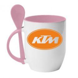 Кружка с керамической ложкой KTM - FatLine