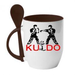 Кружка с керамической ложкой Kudo Fight - FatLine