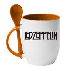 Кружка с керамической ложкой Led Zeppelin - FatLine