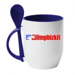 Кружка с керамической ложкой Limp Bizkit - FatLine