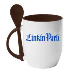 Кружка с керамической ложкой LinkinPark - FatLine