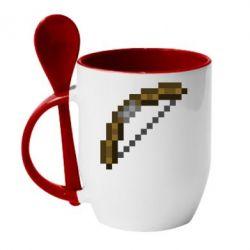 Кружка с керамической ложкой Лук - FatLine