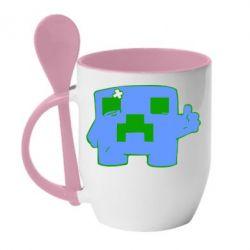 Кружка с керамической ложкой Mad Player - FatLine