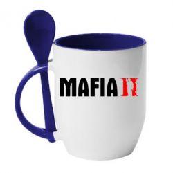 Кружка с керамической ложкой Mafia 2 - FatLine