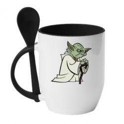 Кружка с керамической ложкой Master Yoda - FatLine