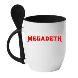 Кружка с керамической ложкой Megadeth - FatLine