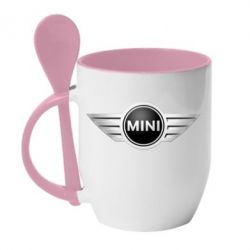 Кружка с керамической ложкой Mini Cooper - FatLine