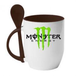 Кружка с керамической ложкой Monter Energy Classic - FatLine