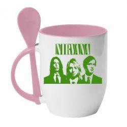Кружка с керамической ложкой Nirvana (Нирвана) - FatLine