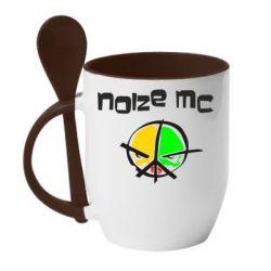 Кружка с керамической ложкой Noize MC Logo - FatLine
